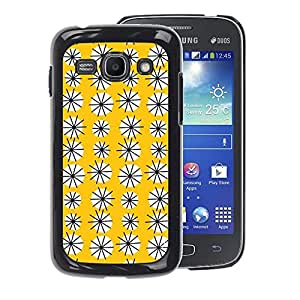 A-type Arte & diseño plástico duro Fundas Cover Cubre Hard Case Cover para Samsung Galaxy Ace 3 (Yellow Floral Pattern Flowers Modern)