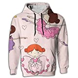 Paskcc Men's Hoodie Graphic Tops Shirt Coat Pullover Ballet Dance Girl Juniors