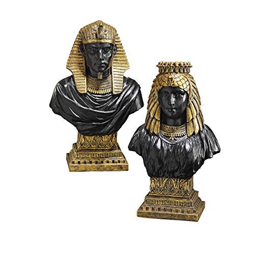 Design Toscano Egyptian King Rameses II and Queen Nefertari Bust Set