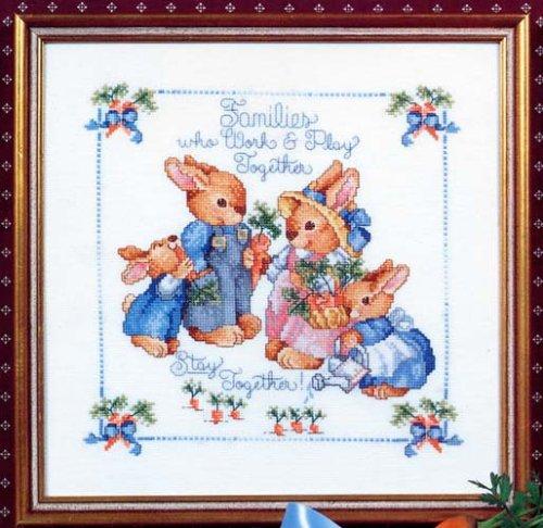 Bunny Family Sampler (Cross Stitch) (Sudberry House Designer Series, #103) -