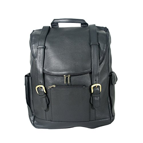 Andrew Philips Vaqueta Napa Leather Backpack in Black