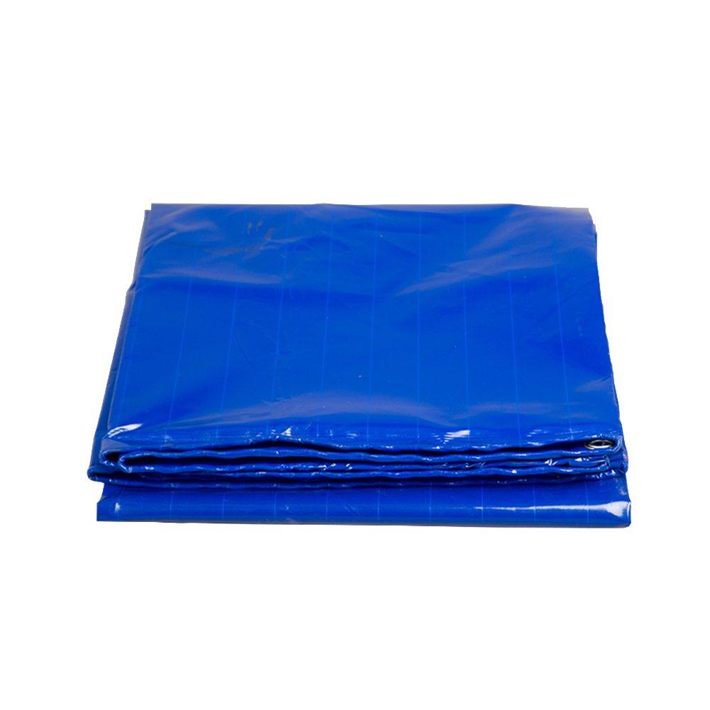 DYFYMXOutdoor Ausrüstung Plane, mechanische Ausrüstung, Regenschutz, regensicherer Sonnenschutz, hohe Temperatur- und OxidationsBesteändigkeit, blau @
