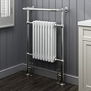ibathuk 8 column traditional designer heated towel rail bathroom radiator all sizes - Designer Heated Towel Rails For Bathrooms