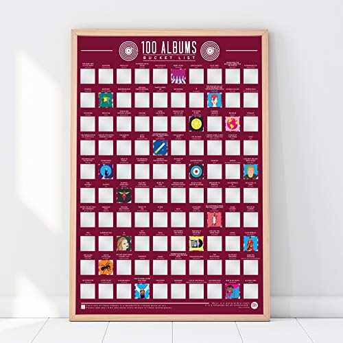 Gift Republic 100 Albums Bucket List Poster