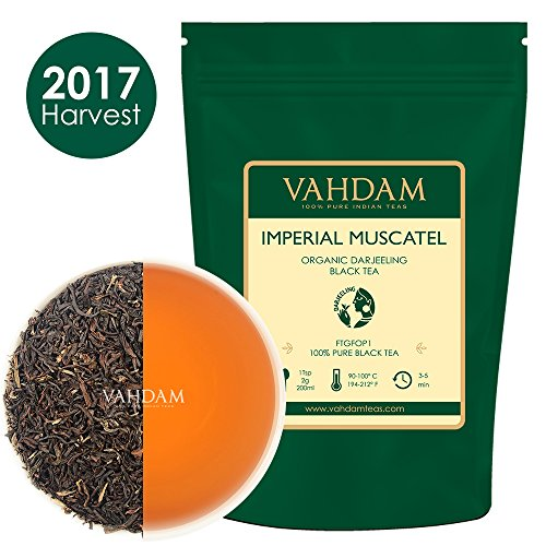 2017 Harvest Second Flush,​Imperial Muscatel Darjeeling Tea Leaves (50 Cups) 3.53oz - Bodied, Aromatic & Rich,Second Flush Harvest, 100% Pure Unblended Darjeeling Tea,Grown & Shipped Direct from India