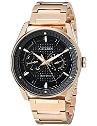CITIZEN BU402354E / BU4023-54E BU402354E CTO Mens Eco-Drive Rose-Gold Stainless Steel Watch