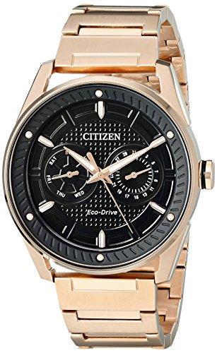 Men's Drive from Citizen Eco-Drive CTO Rose-Gold Tone Black Dial Watch BU4023-54E Citizen Gift Set
