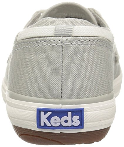Keds Womens Wimmer Lurex Canvas Fashion Sneaker Grigio / Argento