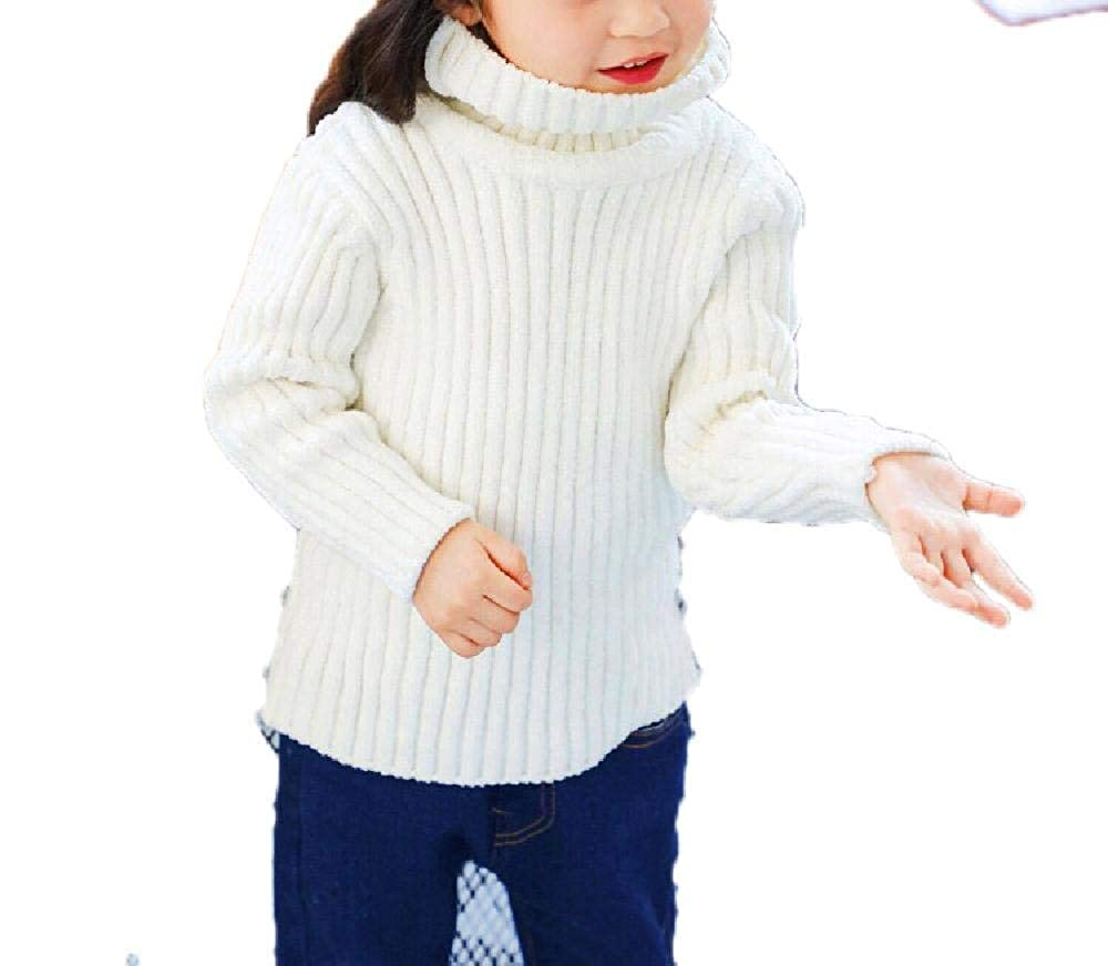 BCVHGD Autumn Winter Girl Sweater Pullovers Children Turtleneck Knitted Warm Sweater Baby Girl Clothes Kids Tops