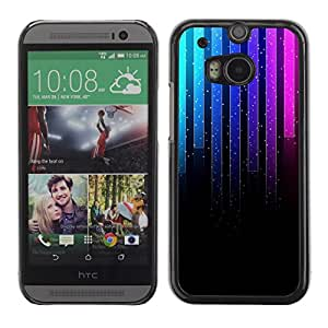 Soft Silicone Rubber Case Hard Cover Protective Accessory Compatible with HTC ONE M8 2014 - Music Neon Graph