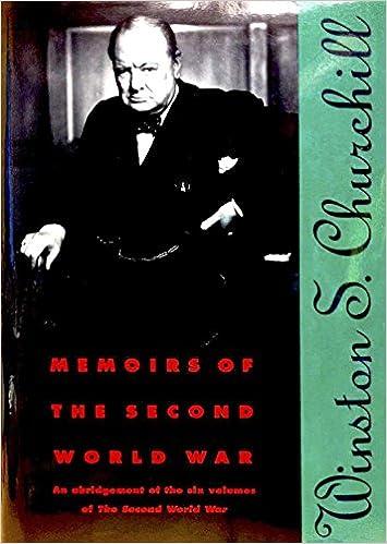 Memoirs of the Second World War An Abridgement of the Six Volumes of the Second World War With an Epilogue by the Author on the Postwar Years Writt