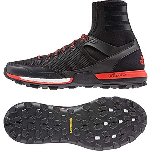 (adidas Mens Adizero XT 5 Boost Hiking Shoe,Black/Dark Grey/Solar Red,US 6 M)