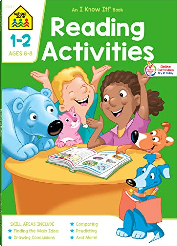 (School Zone - Reading Activities 1-2 Workbook - 64 Pages, Ages 6 to 8, Grades 1 to 2, Comprehension, Comparing and Contrasting, Evaluating, ... (School Zone I Know It!® Workbook Series))