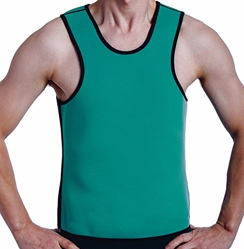 Roseate Body Shaper Hot Thermo Sweat Shapewear Mens Weight Loss Tank Top Neoprene Sauna Waist Cincher XL - 004 Burner
