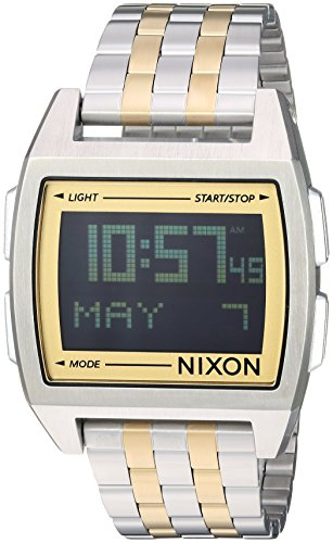 Link Gold Curves (Nixon Men's 'Base' Digital Module Stainless Steel Casual Watch, Color:Gold-Toned (Model: A1107))