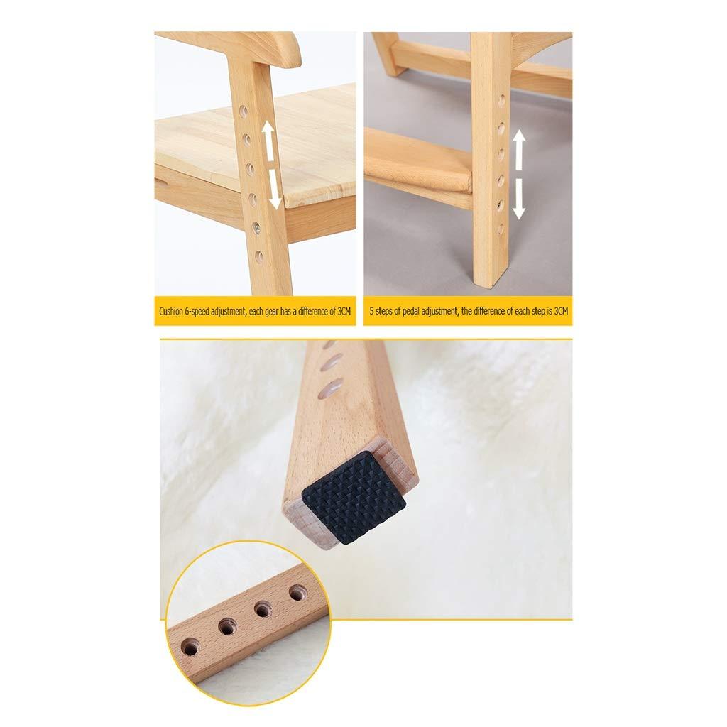 ZWJLIZI lyft- vitbok matrumsstol, barn korrigering hållning studie stol, huvudryggstöd datorstol (färg: B) a