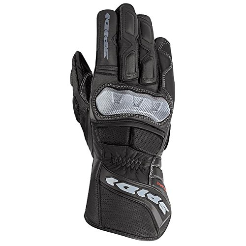 Spidi STR-2 Men's Leather Street Racing Motorcycle Gloves - Black / Medium