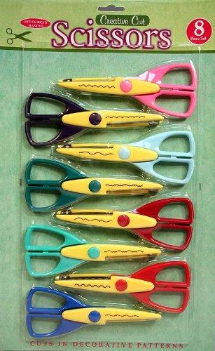 8 Paper Edger Scissors Cut Decorative Patterns in Paper & Cardstock! Great for Teachers, Crafts, Scrapbooking & More!