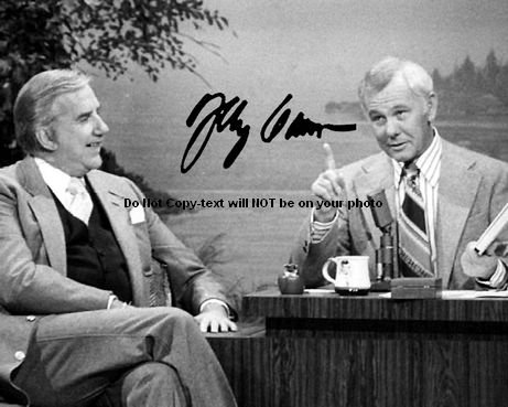 Johnny Carson Autographed Preprint Signed Photo 1