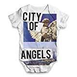 TWISTED ENVY City of Angels Los Angeles Baby Unisex Novelty All-Over Print Bodysuit Baby Grow Baby Romper