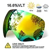 hongdak Ski Goggles Lens, Snowboard Goggles UV Protection, Snow Goggles Helmet Compatible men women boys girls kids, Anti fog OTG Gold Lens