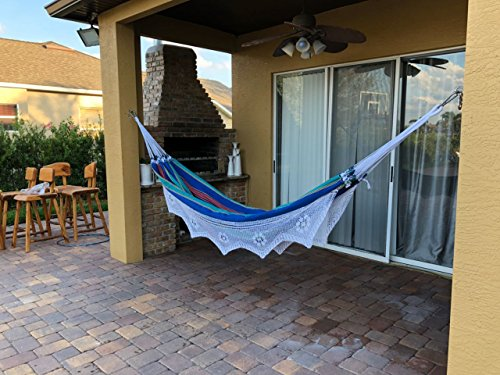 Brazilian Outdoor Hammock for Two Person - Use as Bed, for naps, Large Hammock made by cotton, handmade and high quality material -  - patio-furniture, patio, hammocks - 51oX7XrNJ6L -