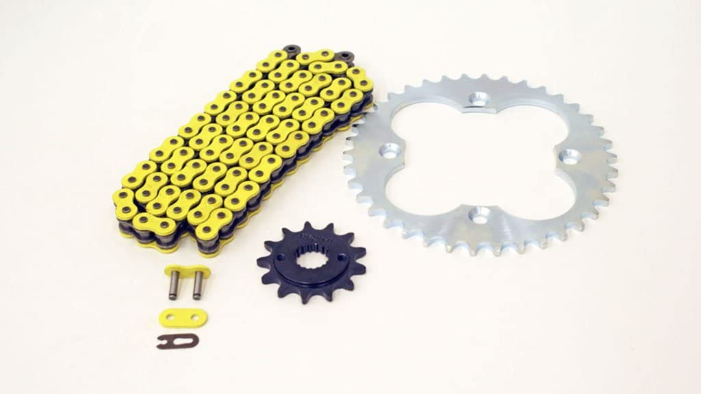 99-2004 Fits Honda 400EX TRX400EX Yellow Non O-Ring Chain /& Silver Sprocket 13//39 94L