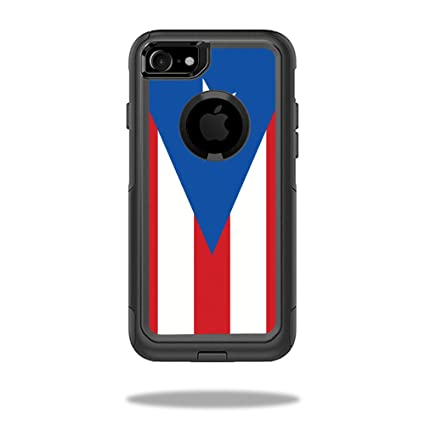 new concept 58b83 e12b2 MightySkins Protective Vinyl Skin Decal Compatible with OtterBox Commuter  iPhone 7 Case wrap Cover Sticker Skins Puerto Rican Flag