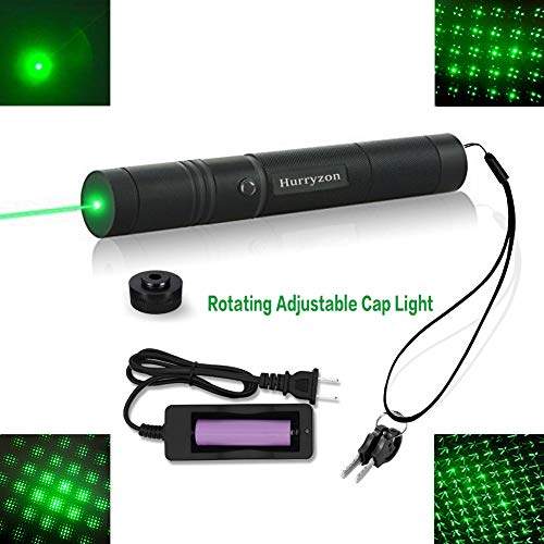 Tactical Green Hunting Rifle Scope Sight Laser Pen Demo Remote Pen Pointer Projector Travel Outdoor Flashlight LED Interactive Baton Funny Laser toy (Laser Pen) (Hunting Star)