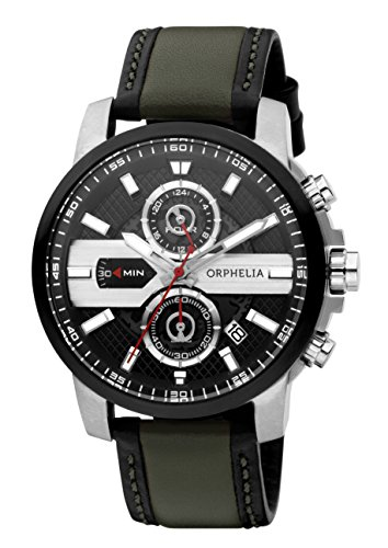 Orphelia Men's X Plane Quartz Watch With Multicolour Dial Analogue Display And Leather Strap