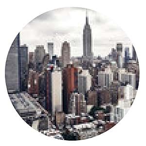 alfombrilla de ratón Edificios de la ciudad de Nueva York - ronda - 20cm