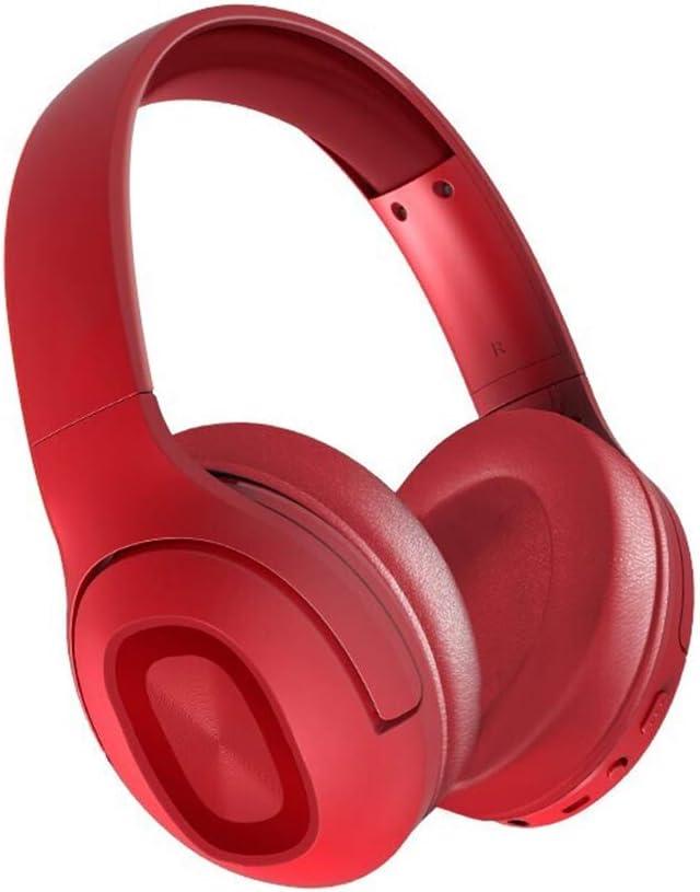GXYAS Auriculares Auriculares inalámbricos Bluetooth, Música Auriculares Deportivos Telescópico Plegable Reducción de Ruido ANC Tiempo en Espera 200H Regalo inalámbrico de Modo Dual con Cable-Red