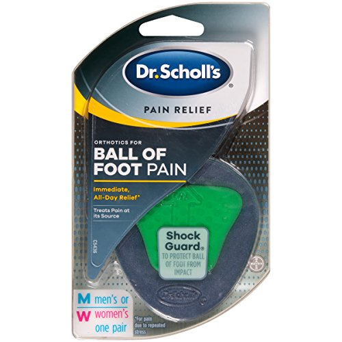 Dr. Scholl's Pain Relief Orthotics for Ball of Foot Pain, 1 Pair - One size fits (Orthotics Foot Pain)