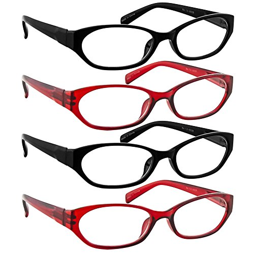 Reading Glasses 3.50 2 Black 2 Red (4 Pack) 9502 TruVision Readers