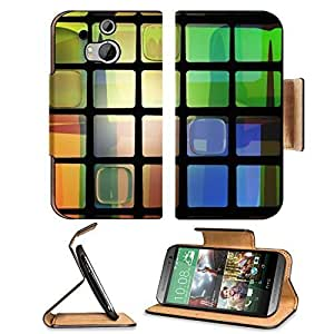3D View Multicolor Digital Art Artwork HTC One M8 Flip Case Stand Magnetic Cover Open Ports Customized Made to Order Support Ready Premium Deluxe Pu Leather 6 4/16 Inch (158mm) X 3 4/16 Inch (82mm) X 9/16 Inch (14mm) MSD HTC1 cover Professional M 8 Cases by heywan