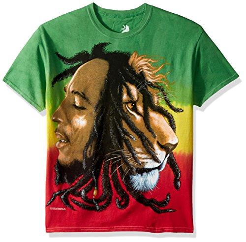 Bob Marley - Profiles Tie-Dye T-Shirt - X-Large