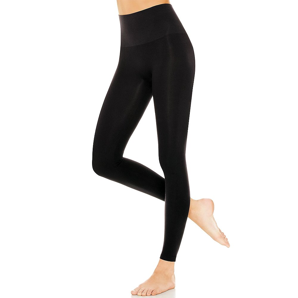 PU Health High Waist Compression Slimming Leggings for Toned Body, Black, 0.25 Pounds
