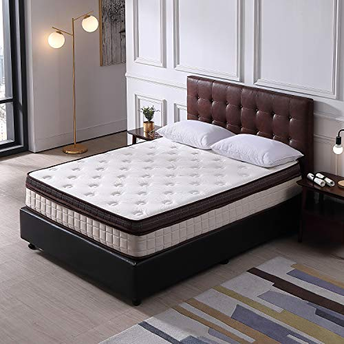 Full Size Memory Foam Pillow Top Mattress Le Confort 11 Inch California Fire Resistant Design Hybrid Double Spring Double Bed - Spring Top Mattress Pillow