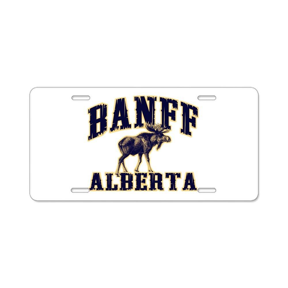Front License Plate Vanity Tag Banff Moose Aluminum License Plate Aluminum License Plate CafePress