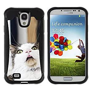 iDesign Rugged Armor Slim Protection Case Cover - LOL Funny Cat - Samsung Galaxy S4