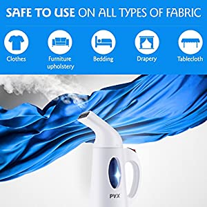 Pax Clothes Steamer, New Design Powerful, Steamer For Clothes, Travel and Home Handheld Garment Steamer, 60 Seconds Heat-Up, Fabric Steamer With Automatic Shut-Off Safety Protection (White)