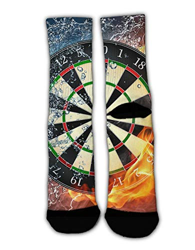 Target Shirt Dress (YEAHSPACE 1 Pairs Dart Board Target Ice Fire Christmas Holiday Socks Funky Dress Socks Colorful Fun Cotton Crew Socks, Novelty Gifts for Men Women)