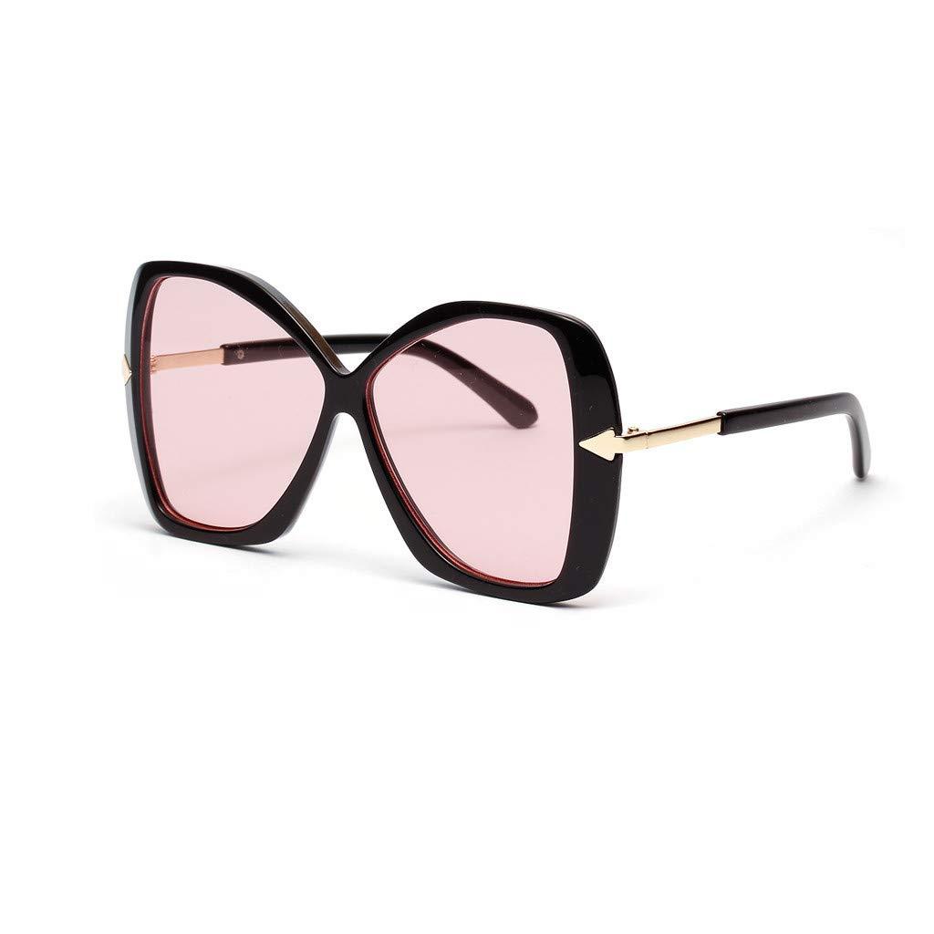 KCPer Women Vintage Eye Oversized Irregular Sunglasses Retro Eyewear Fashion Radiation Protection Arrow Glasses Arrow (C)