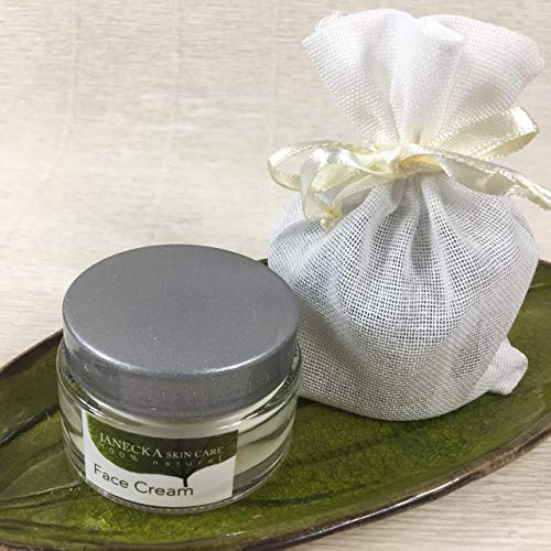 JANECKA Face Cream, Set of 2, Artisan Crafted Natural Ingredients, Cocoa Butter Coconut Oil