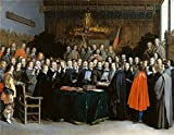 Oil Painting 'Gerard Ter Borch The Ratification Of The Treaty Of Mnster ' Printing On Perfect Effect Canvas , 20 X 26 Inch / 51 X 65 Cm ,the Best Bedroom Decoration And Home Decoration And Gifts Is This Reproductions Art Decorative Canvas Prints