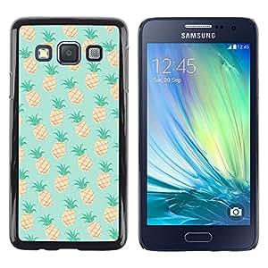 Be Good Phone Accessory // Dura Cáscara cubierta Protectora Caso Carcasa Funda de Protección para Samsung Galaxy A3 SM-A300 // pineapple mint 420 weed cannabis