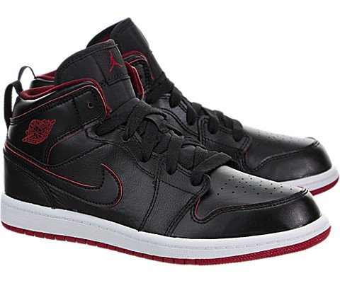new product 63958 aba24 NIKE Boy s Air Jordan 1 (Mid) Basketball Shoes - Buy Online in Oman.    Apparel Products in Oman - See Prices, Reviews and Free Delivery in Muscat,  Seeb, ...