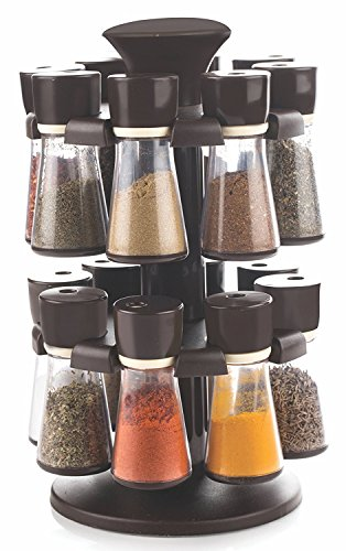 Plastic Revolving Spice Rack from Slings- 16 Pieces Spice Jars