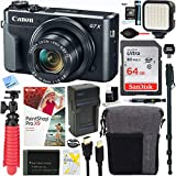 Canon PowerShot G7 X Mark II 20.1MP 4.2x Optical Zoom Digital Camera + 64GB SDXC Card and Deluxe Accessory Bundle For Sale