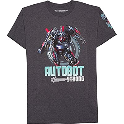 Transformers Shirt for Boys Hot Rod Strong Short Sleeve Graphic T-Shirt Tee (Large 10-12)